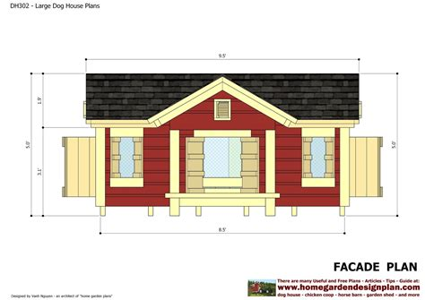 home garden plans dh insulated dog house plans construction dog house design