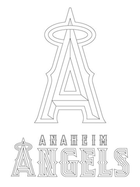 anaheim angels logo coloring page  printable