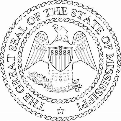 Mississippi Coloring State Pages Flags Getcolorings Printable