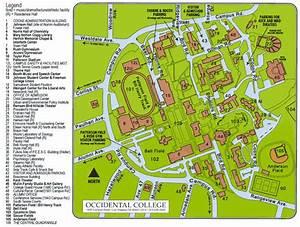 Occidental campus map