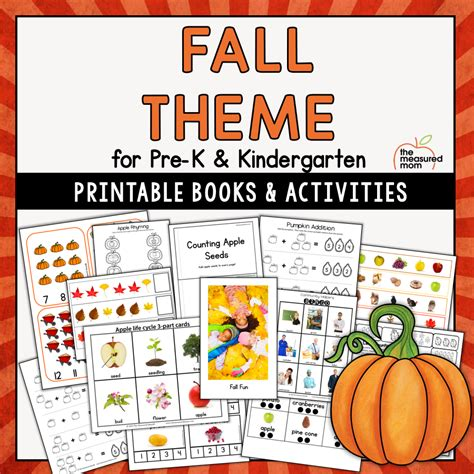 Fall Theme Pack for Pre-K/K - The Measured Mom
