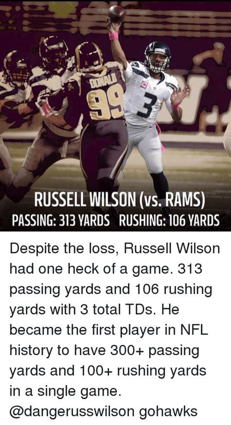 russell wilson  rams passing  yards rushing  yards