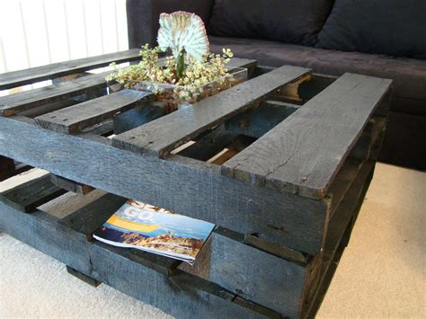 The inspiration came from this pinterest photo. 18 DIY Pallet Coffee Tables | Guide Patterns