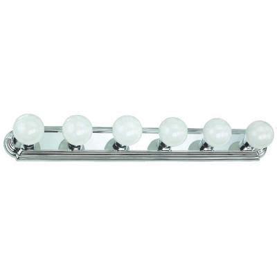 hton bay 6 light chrome flushmount raceway bath bar