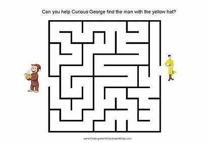 Maze Curious Mazes George Printable Level Printables