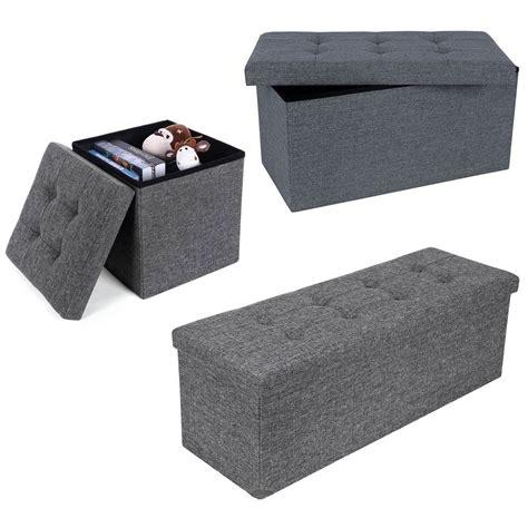 grey ottoman storage box new grey modern foldaway linen storage ottoman stool bench