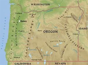 oregon map - Free Large Images