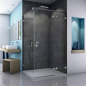 porte de douche pivotante espace aubade With porte de douche coulissante avec carrelage moderne salle de bain