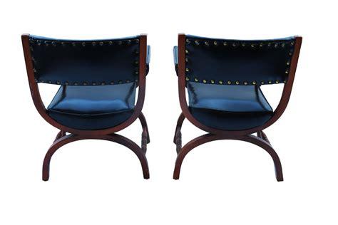 A Pair Of American Curule Armchairs