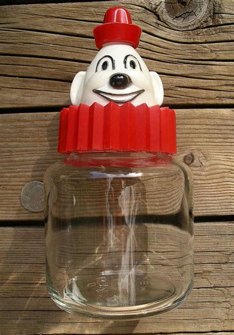 vintage bosco chocolate syrup dispenser figural clown