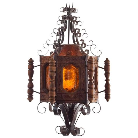 1960s revival or mexican pendent light wrought