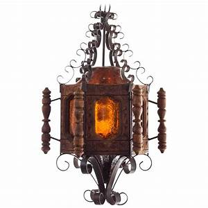 S spanish revival or mexican pendent light wrought