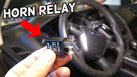 horn relay location replacement ford focus mk