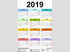 Free Pakistan 2019 Calendar PDF, Excel, Word Templates