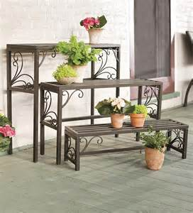 the beautiful wrought iron plant stands outdoor