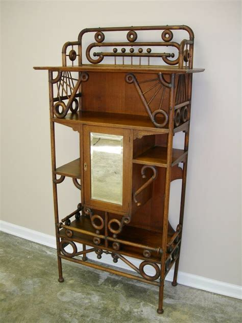 Antique Etagere by Antique Solid Oak Etagere Stand Circa 1880 90