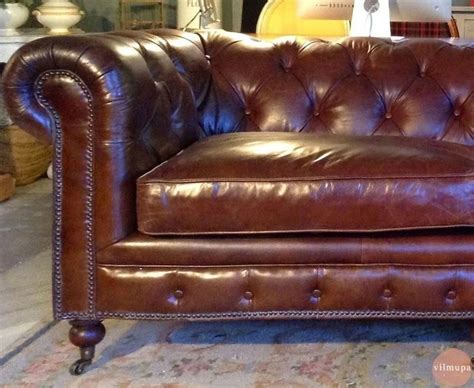 sofa chester en valencia un precioso sof 225 chester de cuero envejecido vilmupa