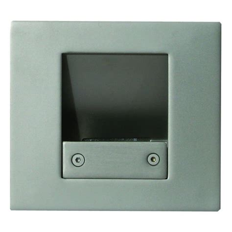 emcogroup flush led 362415led silver wall plinth light