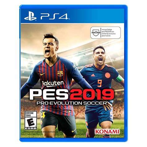 videojuego ps4 pro evolution soccer 2019 alkosto tienda