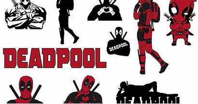 Deadpool Svg Silhouette Vinyl Clipart Cut