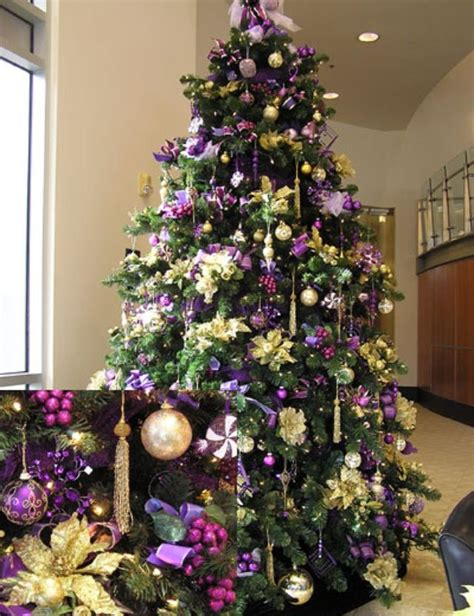 purple christmas tree christmas decor ideas purple