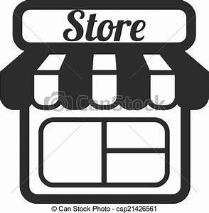 Clip Art Vecteur de Magasin, Supermarché, vecteur, icônes ...