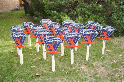 high school cheer yard sign yard art custom
