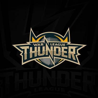 Thunder War Tournament Behance League Logos Lightning