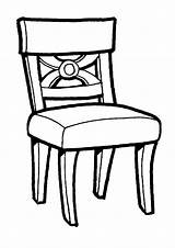 Coloring Chair Furniture Dresser Template Mebel Raskraska Coloringtop sketch template
