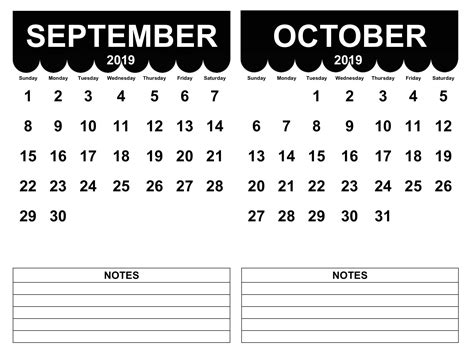 september  october  calendar magic calendar