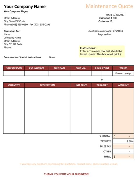 excel quote template 16 quotation templates free quotes for word excel and pdf