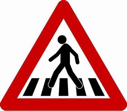 Sign Crosswalk Crossing Pedestrian Warning Vector Clip