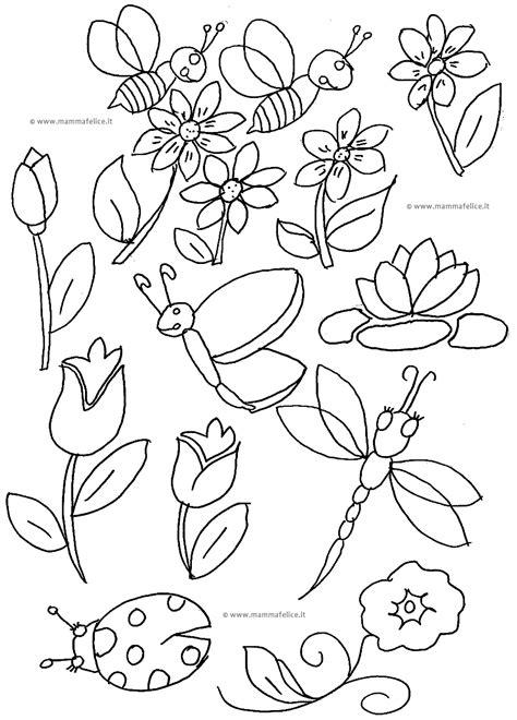 disegni da colorare la primavera mamma felice