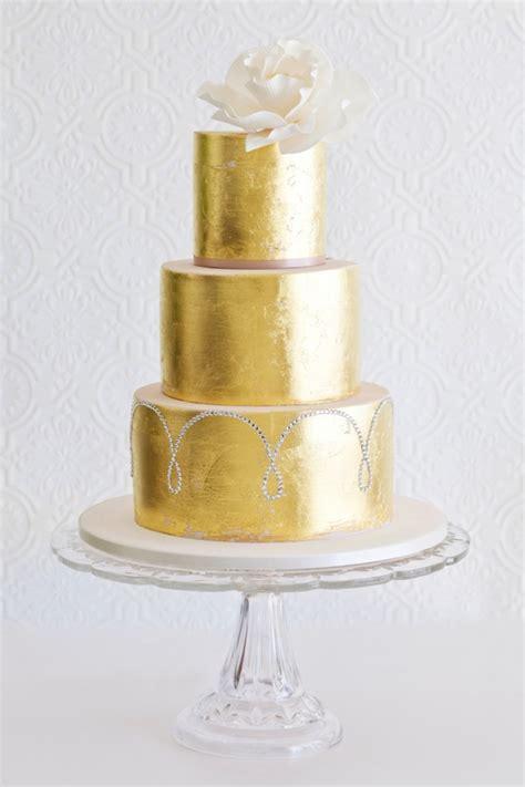 southboundbride sparkle metallic wedding cakes