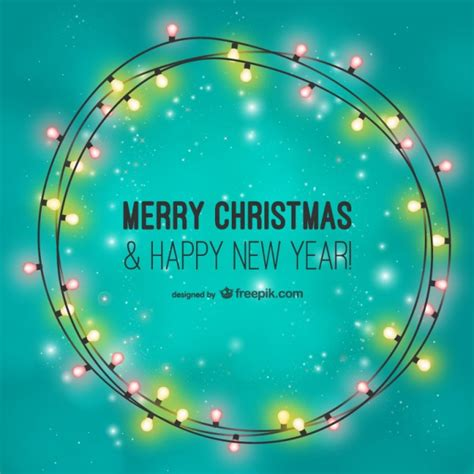 merry christmas light vector merry christmas card with light bulbs vector free download