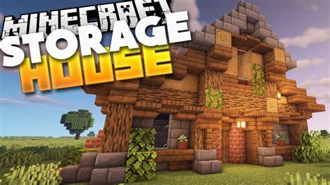 build  survival storage house  minecraft  tutorial youtube