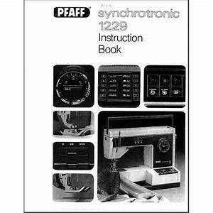 Instruction Manual  Pfaff Synchrotronic 1229   Sewing