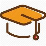 Hat Student Icon Brown Cap Yellow University