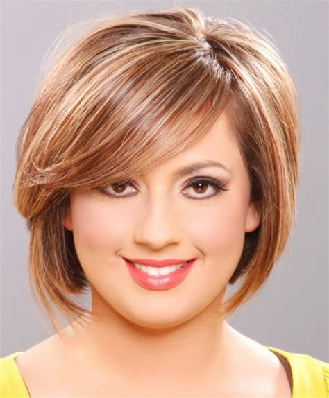 short hairstyles for round faces and thin hair fashion