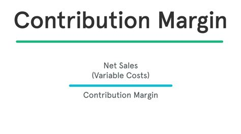 Contribution Margin Ratio  Formula  Per Unit Example