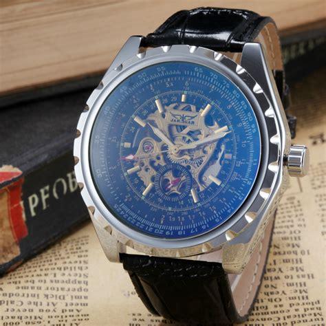 jam tangan pria tissot otomatis perunggu antik pria jam tangan kerangka jam laki laki tali