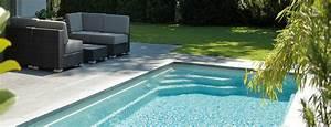 piscine rectangulaire avec escalier d39angle banquette With escalier d angle piscine beton