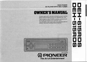 Pioneer Deh-p49001b Owners Manual