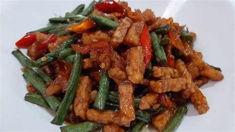 The description of resep sambal tempe kacang panjang sedap app. RESEP TEMPE OREK KACANG PANJANG | PEDAS - MANIS - KRIUK KRIUK - YouTube