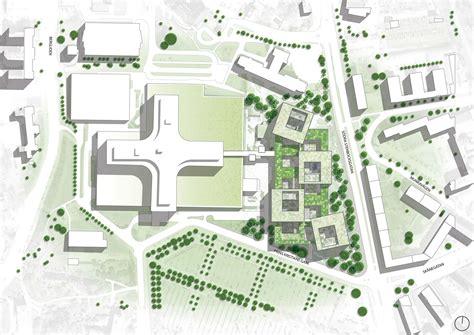 architecture plans hospital project in sweden by schmidt hammer lassen