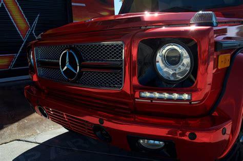 mercedes benz  wagon factory white red chrome