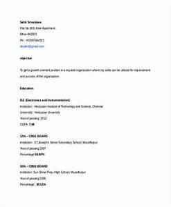basic fresher resume templates 4 free word pdf format With basic resume format pdf
