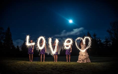 sparkler   brides  love fstoppers
