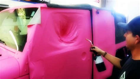jeep pink matte 3m matte pink 1080 jeep wrap youtube
