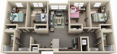 Apartment University Flats Bedroom Bedrooms Housing Living